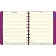 "Filofax® 2017 Weekly Planner, 10-7/8"" x 8-1/2"", Soft Cover with Elastic Closure, Fuchsia (C1811403)"
