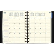 "Filofax® 2017 17-Month Monthly Planner, 10-7/8"" x 8-1/2"", Soft Cover, Black (C1811001)"