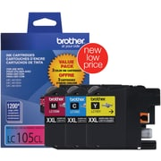 Brother Color Ink Cartridges, Super High Yield, 3/Pack (LC1053PKS)