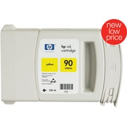 HP 90 Yellow Ink Cartridge (C5064A), 225ml