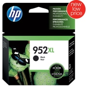 HP 952XL Black Ink Cartridge, High Yield (F6U19AN#140)