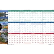 2017 House of Doolittle 24 x 37 Laminated Wall Calendar Planner Reversible Earthscapes Scenic (HOD393)