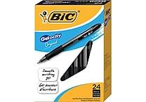 BIC® Gel-ocity® Retractable Gel-Ink Pens, Medium Point, Black Ink, 24/Pack