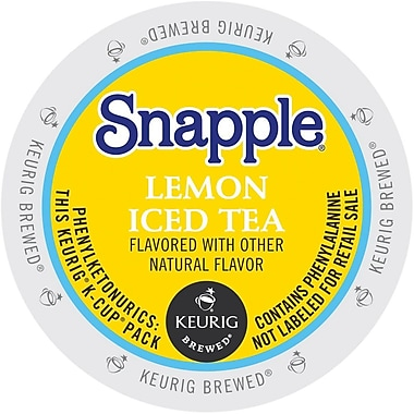 Keurig® K-Cup® Snapple® Iced Tea, Lemon, 16/Pack