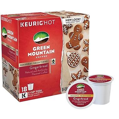 Keurig® K-Cup® Green Mountain® Gingerbread Coffee, Regular, 18 Pack