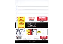 Mead Five Star Reinforced Wide Ruled Filler Paper, 10-1/2' x 8', 100 Sheets (15000)