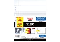 Mead Five Star Reinforced College Ruled Filler Paper, 11 x 8 1/2', 100 Sheets (17010)