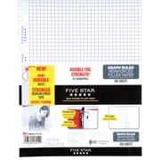 "Five Star® Reinforced Graph Ruled Filler Paper, 11 x 8 1/2"", 100 Sheets (17012)"