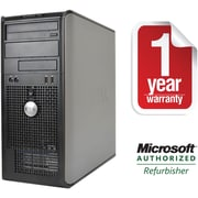 Refurbished DELL 760 Tower Intel C2D-3.0GHz 4GB Ram 500GB Hard Drive DVD Win 7 Pro(64bit)