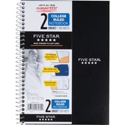 "Five Star® Wirebound Notebook, 2 Subject, College Ruled, 6"" x 9 1/2"" (06180)"