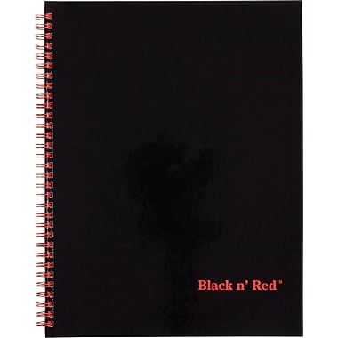 Black n' Red™ Twin Wire Hardcover Business Notebook, 8 1/2