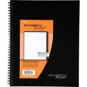 "Cambridge® Meeting Notebook, 8 1/4"" x 11"", Black (06132)"