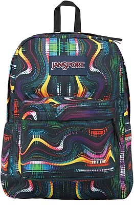 Jansport Superbreak Backpack, Multi Frequency (JS00T5010KP)