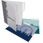 Staples® Heavyweight Cityscapes File Folders, Letter, 3 Tab, 6/Pack (28876)