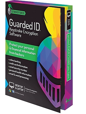 GuardedID Keystroke Encryption Software (2-computer protection, 1 year, Windows/Mac) (Boxed)