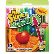 Mr. Sketch® Scented Twistable Crayons, Assorted, 12 Pack