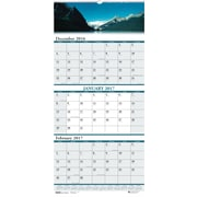 "House of Doolittle, 3 Month Wall Calendar, 2017, 17"" x 8"", Earthscapes Scenic (3636-17)"
