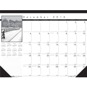 "House of Doolittle, Desk Pad Calendar, 2017, 17"" x 22"", Black on White (122-17)"