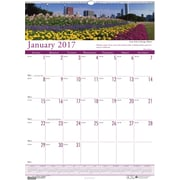 "House of Doolittle, Wall Calendar, 2017, 22"" x 15 1/2"", Earthscapes Gardens (303-17)"