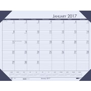 "House of Doolittle, Desk Pad Calendar, 2017, 13"" x 18 1/2"", EcoTones Blue (124640-17)"