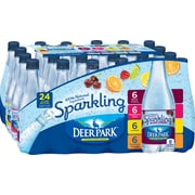 Deer Park Brand Sparkling Natural Spring Water, Variety Pack 16.9-Ounce Plastic Bottles, 24/Pack (12128489)