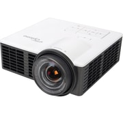 Optoma ML750St is a incredibly light yet powerful, pico type of SHORT THROW projector  -- 700 lumens LED projection