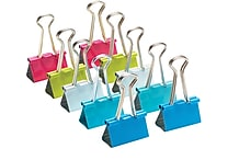 Poppin, Medium Medium Binder Clips, Assorted, Set of 10 (102776)