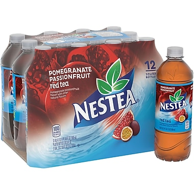 Nestea® Iced Tea, Pomegranate Passion Fruit, 16.9 fl. oz. Bottles, 12/Pack