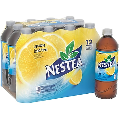 Nestea® Iced Tea, Lemon 16.9-ounce Plastic Bottle, 12/Pack