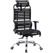Harmony Air Chair, High-Back Ergonomic, Elastic-Premium Material, Adjustable Recliner, Black