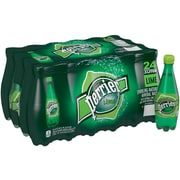 Perrier Sparkling Natural Mineral Water, Lime 16.9-ounce plastic bottles, 24/Pack
