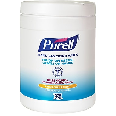 Purell® Sanitizing Wipes, Fresh Citrus Scent, 270/Wipes