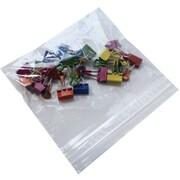 """Staples 6.5"""" x 6"""" Reclosable Poly Bag, 1.0 Mil, 1000/Case"""