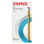 STAPLES® #2 WOOD PENCILS YELLOW 72PK (10434)