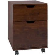 Bush Furniture Mission Creek 2-Drawer Mobile Pedestal, Antique Cherry