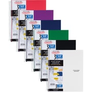 "Mead Five Star Wirebound Notebook, 3 Subject, College Ruled, 11"" x 8 1/2"", Assorted Colors (06210)"