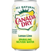 Canada Dry Lemon-Lime Sparkling Seltzer Water, 12 oz. Cans, 24/Pack (78000165166)