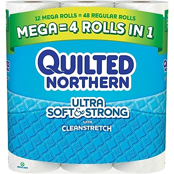 2-Pk. Quilted Northern Ultra 12-Rolls Toilet Paper