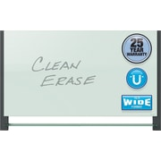 "Quartet® Evoque™ Magnetic Glass Dry-Erase Boards with Invisible Mount, Wide Format, 85"" x 48"", Black Aluminum Frame"