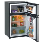 Avanti RA3136SST 3.1 CF Two Door Counterhigh Refrigerator/Freezer - Black w/Stainless Steel Doors