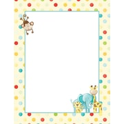 """Great Papers! Baby Zoo Animals Letterhead   8.5"""" x 11""""  80 count (2013163)"""