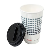 Staples Brand Paper Hot Cups and Lids Combo Pack, 16 oz, 24/pk