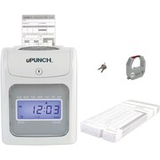 uPunch Electronic Calculating Punch Card Time Clock Bundle