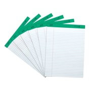 "Staples 100% Recycled, White, 8-1/2"" x 11-3/4"", Perforated Notepads, Wide Ruled, 12/Pack (18590STP)"