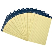 "Signa® 8-1/2"" x 14"", Yellow Legal Pads, Perforated, Wide Ruled, 12/Pack"