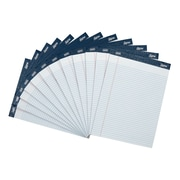 "Staples Signa Notepads, 8.5' x 11.75"" Narrow Ruled, 50 White Sheets Per Pad, 12/pack"