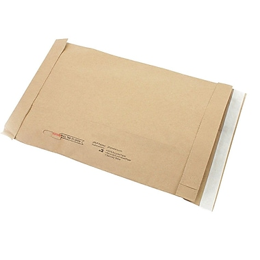 Staples #3 Padded Mailer, Gold Kraft, 8-3/8