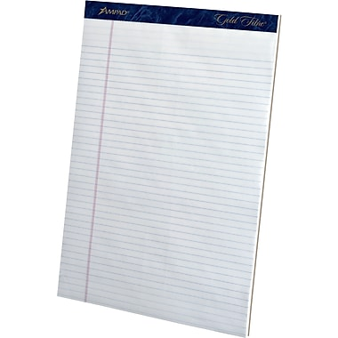 Ampad® Gold Fibre® Perforated Notepads, 8.5
