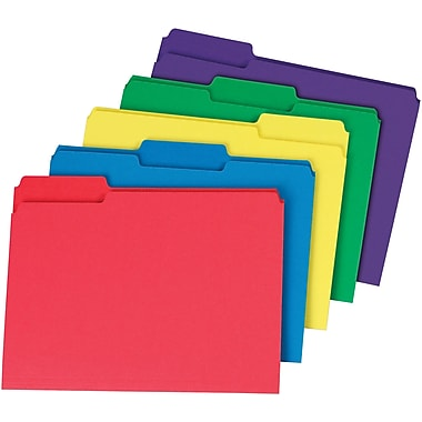 Staples Interior File Folders Letter Assorted 100 Box Staples