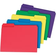 Staples® Interior File Folders, Letter, Assorted, 100/Box